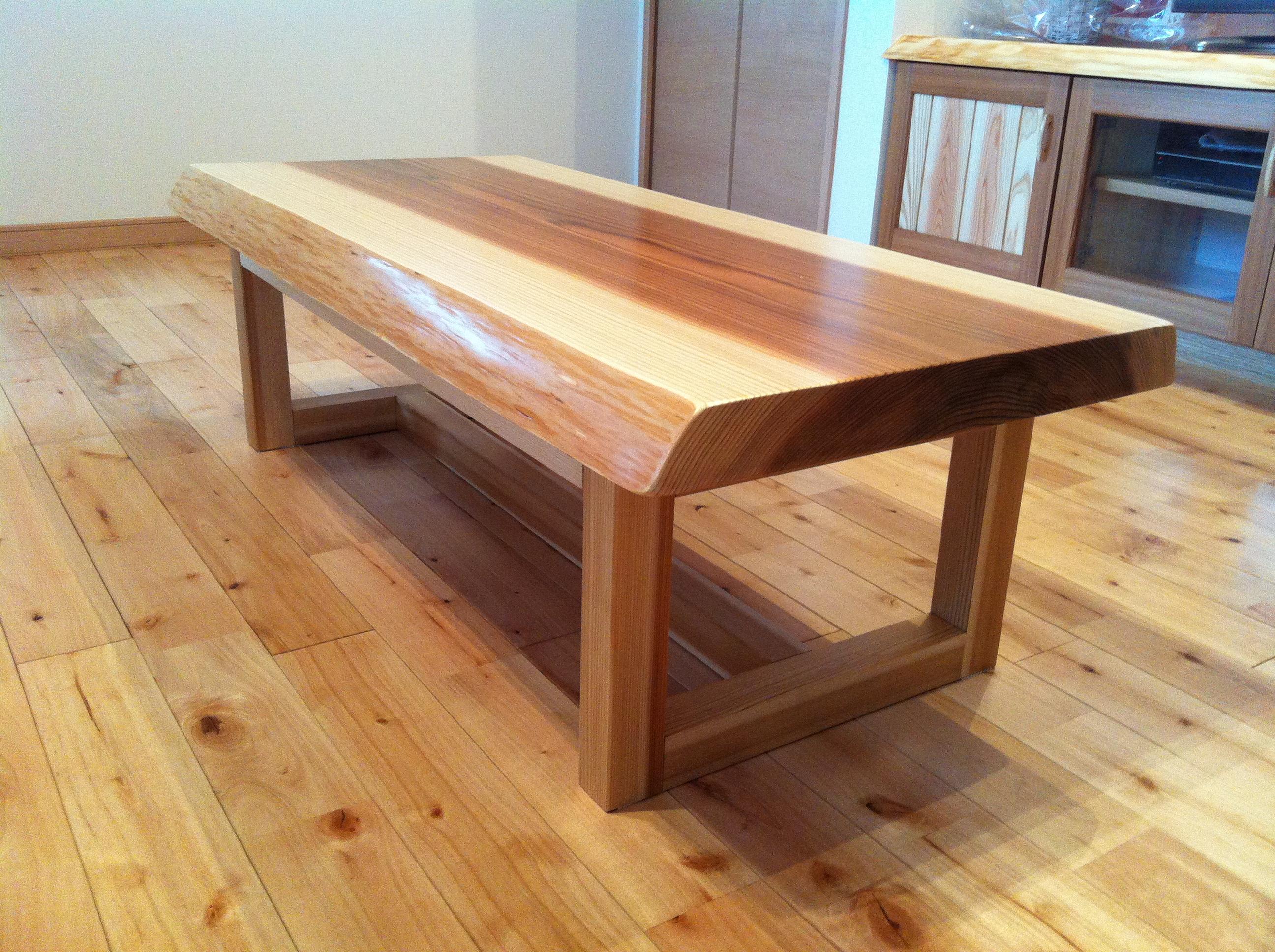 杉板テーブル